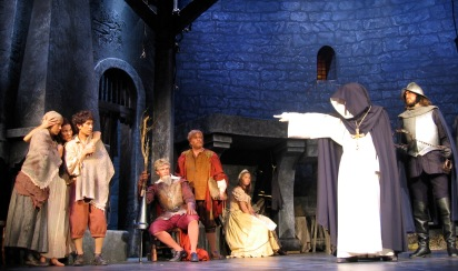 Nicole Sterling (upstage center) & the Cast of Man of La Mancha (Stages St. Louis)
