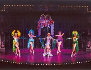 Nicole Sterling (second from right) in La Cage Aux Folles