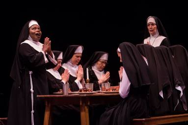 Nicole (third from left) with Zonya Love (left) & Lynne Wintersteller (right) in Sister Act